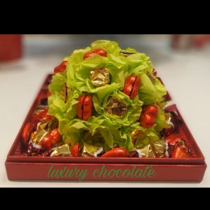 Chocolate & Artificial Flower Gift Box